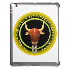 Valxart Taurus zodiac logo Case For iPad Zodiac Cusp, Astrology Taurus, 12 Zodiac, Astrology Signs, Zodiac Signs, Horoscope, Zodiac Years, Apple Ipad, Ipad Case