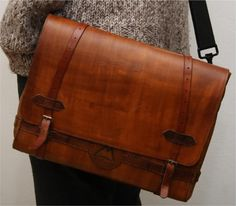 leather messenger bags - Google Search