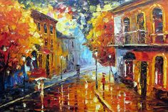 colorful Palette Knife oil painting on canvas modern abstract art deco  K452