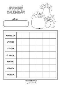 Ovocný kalendár - aktivity pre deti