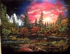 22x28 inch Nature Spray painting by RS10SprayPaint on Etsy, $150.00