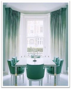 Chic ombre curtains spotted at Matilda Rose Interiors