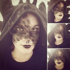 Toothless makeup