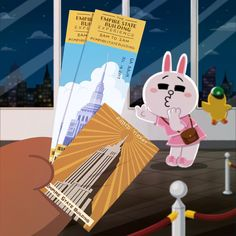 Now you're in New York~🎵 Cute Couple Cartoon, Cute Love Cartoons, Lines Wallpaper, Cute Patterns Wallpaper, Line Cony, Cony Brown, Jacky, Bunny And Bear, Friends Wallpaper