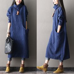 Discover thousands of images about Afdrukken katoen lange jurk - Tkdress - 1 Kleding uit China Modest Outfits, Modest Fashion, Hijab Fashion, Boho Fashion, Winter Fashion, Womens Fashion, Fashion Design, Fashion Trends, Girl Fashion