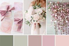 Spring Awakening - Pretty Pink, Sage and White Wedding Inspiration Dusky Pink Weddings, Pink Wedding Colors, Purple Wedding, Wedding Flowers, Trendy Wedding, Beach Weddings, Elegant Wedding, Wedding Color Combinations, Wedding Color Schemes