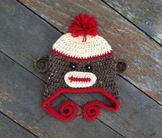 Looking for your next project? You're going to love Sock Monkey Hat EASY 6 sizes  by designer Lizzziee. - via @Craftsy