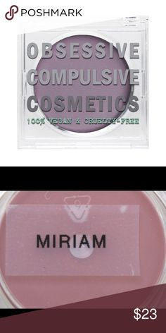 OCC Creme Color Concentrate in Miriam This new texture innovation is a smooth, blendable, buildable cream coverage product that's suitable for use on the eyes, lips*, and cheeks! Loaded with aloe leaf extract, cocoa extract, and vitamins, goes on smoothly and dries to a demi-matte finish. Apply anywhere intense color is desired for an all-day look. *Miriam not recommended for lips.  I am an authorized OCC Pro.  Guaranteed Authentic. Subdued whitened plum. 💐Bundle me!💐 Ask about special…