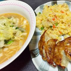 汁まで飲んだった #夕飯 - 7件のもぐもぐ - 九州の方から届いた味噌ラーメン、餃子、チャーハン by ms903