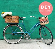 "I might put a bin like that on the back of my ""new"" bike. I rescued a vintage bike like this"