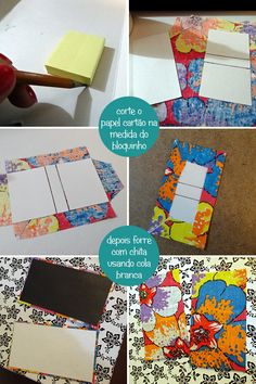 DIY | Porta Post-it Com Chita |