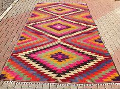 Tapis Kilim turc tapis 134 cm x 73 cm tapis tapis par PocoVintage