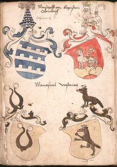 Wernigeroder (Schaffhausensches) Wappenbuch Süddeutschland, 4. Viertel 15. Jh. Cod.icon. 308 n  Folio 230v