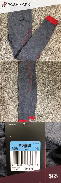 NWT Nike Running Tights These gorgeous Nike Athletic leggings are immaculate in detail and amazing quality. NWT In size medium  🌈 ALL orders are shipped within 2 days   🌈 Items are guaranteed to come wrapped/packaged appropriately  🌈 5 ⭐️ Seller! Check my reviews!  🌈 Feel free to make offers and bundle to save even more!  🌈 Smoke free home Nike Pants Leggings