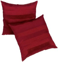 Amazon.com: Global Textiles Red Satin Pleated Pillows