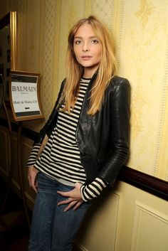 Classic Casual - Breton Stripes, Leather Jacket and Jeans