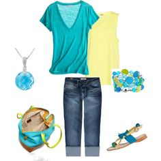 Summer Multi, created by lislyn on Polyvore love the bag!!
