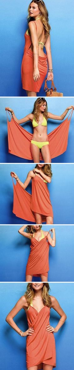 Amazing bikini cover-up beach dress