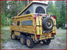 Vehicles that would help you to survive.  This would be my camper of choice come the zombie apocalypse!!