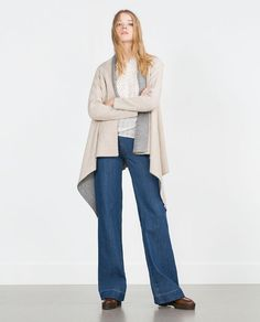 Image 1 of DOUBLE-SIDED CARDIGAN from Zara