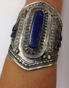 Lapis Lazuli Goddess Power Cuff