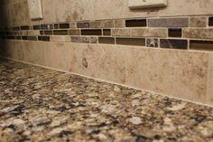 Cambria Canterbury Quartz Countertop and Tile Backsplash