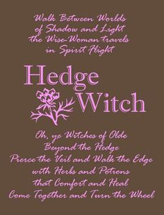 """Hoodie reads:  """"Walk Between Worlds of Shadow and Light the Wise-Woman travels in Spirit Flight Oh, ye Witches of Olde Beyond the Hedge Pierce the Veil and Walk the Edge with Herbs and Potions that Comfort and Heal Come Together and Turn the Wheel""""  A beautiful dark chocolate hoodie with luscious mauve ink."""