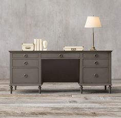 Maison desk with Antique Graphite finish Furniture Projects, Furniture Decor, Restoration Hardware, Room Inspiration, Beautiful Homes, New Homes, Cabinet, Antiques, Storage