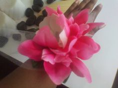 Pink and white flower corsage for prom or wedding. Available at www.etsy.com/shop/deonanddionfashions