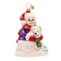 Shop Christopher Radko Ornaments including Best Snow Buddies collectible Christmas ornament from Christopher Radko Gallery. Snowman Ornaments, Glass Ornaments, Christmas Ornaments, Snowmen, Christmas Trees, Christopher Radko Ornaments, Dog Best Friend, Holiday Decor, Laptop