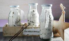 Vanille-Salz                              -                                  Grobes Salz mit Vanille-Note zum Würzen