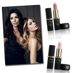 L'Oréal lança linha de batons nude .  Freida Pinto e Julianne Moore, que ganharam respectivamente o Mauve Beige e o Rosewwod Tint (Foto: Divulgação)