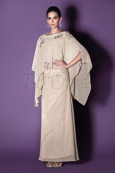 Fabulous Beaded Column/Sheath Floor-Length Scoop Taline's Mother of the Bride Dress : Tbdress.com