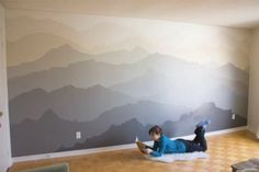 the quot mountain mural bedroom makeover home wall murals galleryhip hippest pics