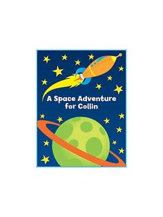 Space Personalized Coloring Book