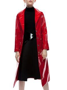 Shop Coats - Buttoned Plain Statement Long Sleeve Lapel Coat online. Discover unique designers fashion at StyleWe.com.