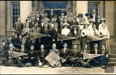 The 1912 Spring graduating class of Marietta Commercial College. They are ready to conquer the world! Look at the hats. They are standing on the steps of the First Congregational Church.