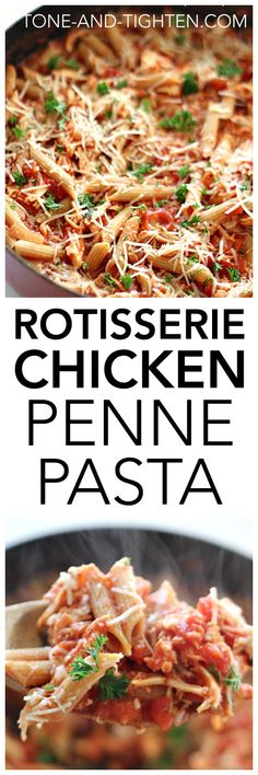 rotisserie-chicken-penne-pasta-from-tone-and-tighten