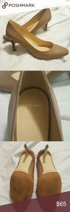 Cole Haan Lena pump Maple Sugar #D42665 Soft leather upper. Fully lined. Fully padded sock lining. Buffed outsole with rubber forepart. Grand.OS technology. 75mm | 3 inch heel. Cole Haan Shoes