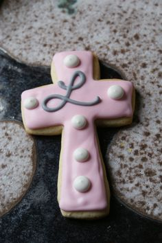Baby dedication cookies