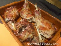 Caceroladas: Cordero lechal al horno Fırın yemekleri Meat Recipes, Cooking Recipes, Recipies, Carne Asada, Spanish Food, Food Dishes, Tapas, Food To Make, Lamb