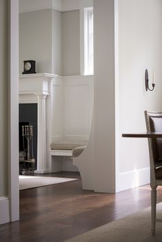 American Home: Classic Home In DC | Donald Lococo Architects Built In Seating, Built In Bench, Custom Home Designs, Custom Homes, White Wall Paneling, Four Square Homes, Stucco Homes, Architectural Services, Residential Architect