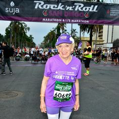 Harriette Thompson, 91, was 76 when she ran the San Diego Rock 'n' Roll Marathon with the Leukemia & Lymphoma Society's Team in Training. It was her first marathon, and she had so much fun that she ran the race 14 more times. But in 2012, she fought her own cancer battle. - Fitnessmagazine.com