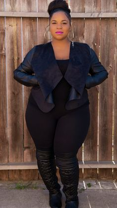 Shop for trendy plus size jackets from Fashion to Figure, including plus size coats, jackets, blazers and vests. Plus Size Fashion For Women, Plus Size Women, Plus Fashion, Modest Fashion, Looks Plus Size, Curvy Plus Size, Curvy Women Fashion, Diva Fashion, Korean Fashion