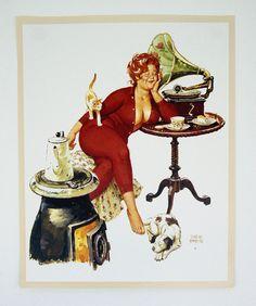 Vintage 1970's Duane Bryers Hilda Pin Up Print. My grandma had a Hilda calendar in her hallway! I