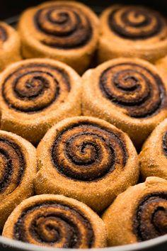 Healthy Chocolate Pumpkin Cinnamon Rolls | Amy's Healthy Baking