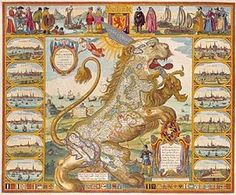 """Leo Belgicus: The Dutch Lion or Leo Belgicus, Latin for Netherlandic Lion..., is a map of the Low Countries (the current day Netherlands, Luxembourg and Belgium) drawn in the shape of a lion."" -- Click through for 10 of these kinds of maps!"