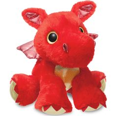 Buy Aurora Sparkle Tales Sizzle Dragon Soft Toy, Red from our Soft Toys range at John Lewis & Partners. Madrid Barcelona, Funko Pop, Mystical World, Bath Toys, Red Dragon, Gifts For Boys, Aurora, Dinosaur Stuffed Animal, Stuffed Animals