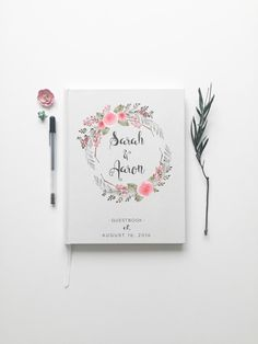Gastenboek bruiloft. Gastenboek bruiloft. Floral door PrintSmitten