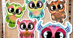RebeccaB Designs: FREE Printable - Owls Patterned print and cut JPG